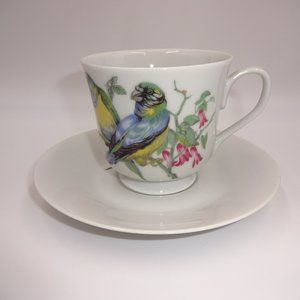 Vintage 1970s Enesco Tea Cup & Saucer Coffee Japan